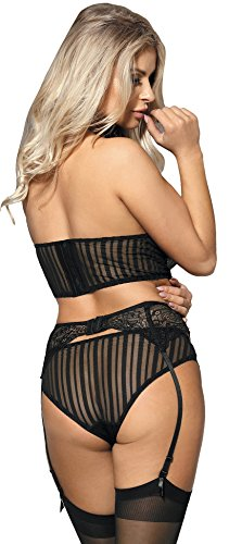 Mesh Marysgift Intima E Reggicalze Lingerie Sexy Donna Pizzo Ir80457 Set Esotico Biancheria Babydoll qw1aqfOxSr