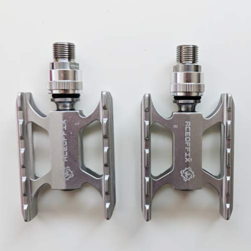 aceoffix Titanium Quick Release Pedals for Brompton Ultra Lightweight 170g Pair Silver Pedals-SIL