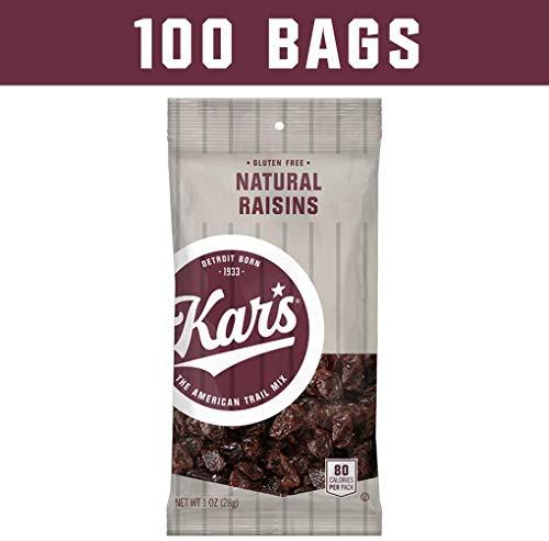 Kar's Natural Raisins Snacks - Bulk Pack of 1 oz Individual Single Serve Bags (Pack of ()