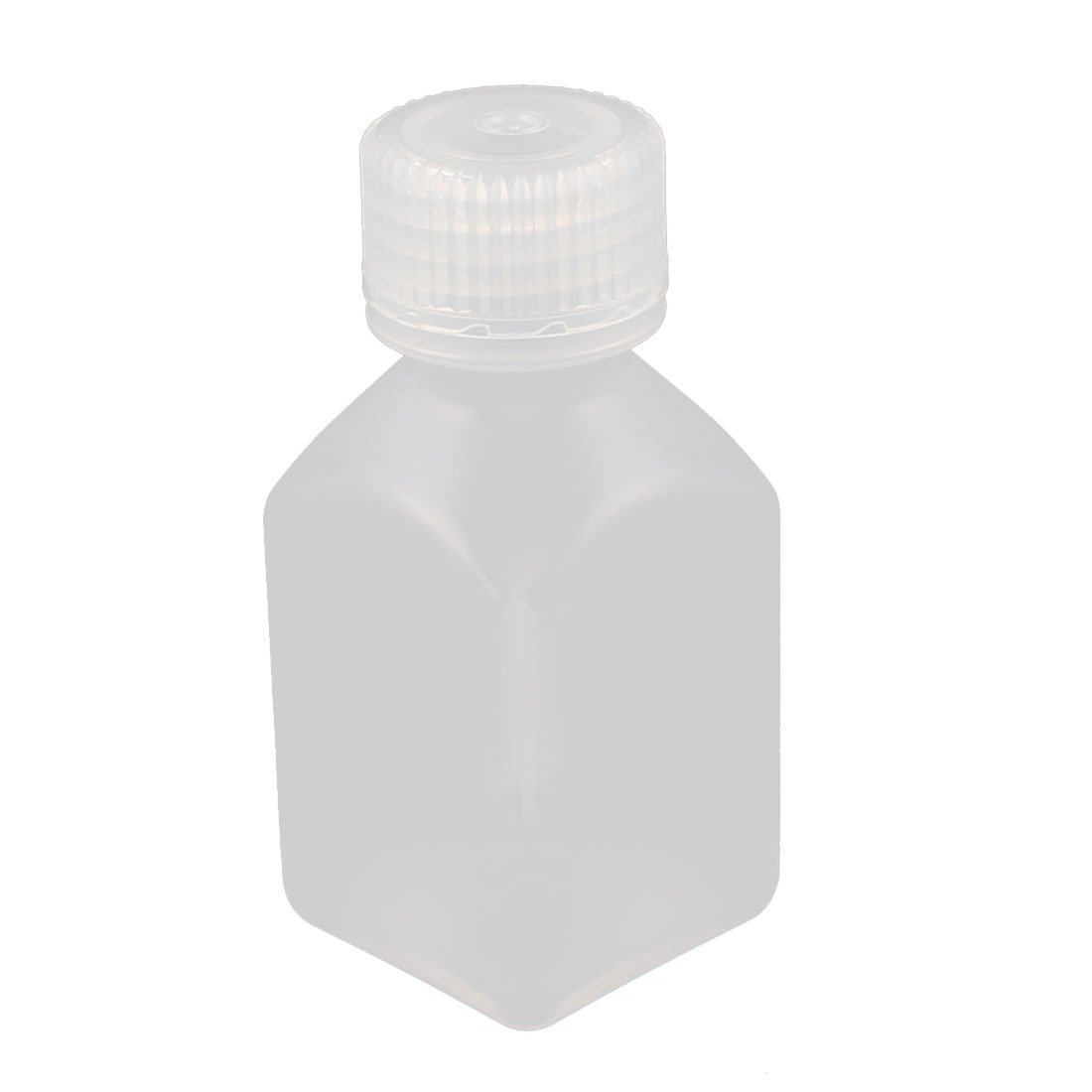 uxcell 50ml PP Square Wide Mouth Seal Reagent Bottle Chemical Sample Bottle