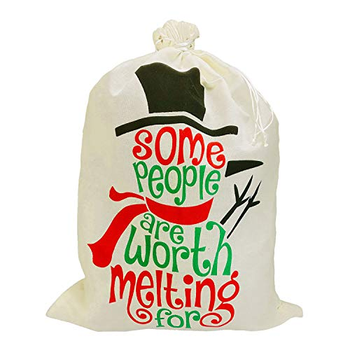 Mydufish 50 X 70 cm Large Capacity Drawstring Christmas Bag Santa Sacks Sack Eve Gift Pa