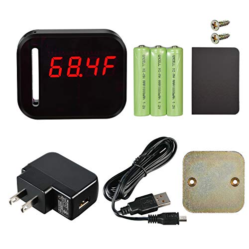 WiFi Temperature Humidity monitor, LED Digital Thermometer Hygrometer monitor, indoor/outdoor Temperature Humidity sensor with Alerts. Free iPhone/Android Apps, web browser monitor 24/7 from Anywhere by Ismart56 (Image #3)