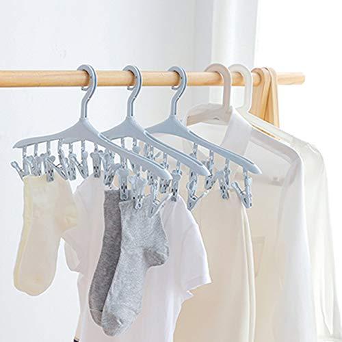 Wenwenzui-ES 8 Clips Multifunktionale platzsparende Kleiderb/ügel-Kleiderb/ügelsocken Kleiderb/ügelhaken