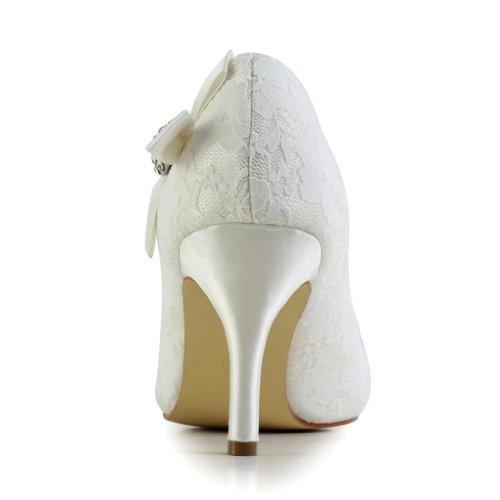 Scarpe Col Jia Wedding 839028 Avorio Sposa Tacco Donna qIEUgwE