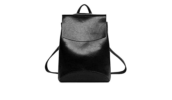 Amazon.com: Angelia Daugh NEW Design Pu Women Leather Backpacks School Bag Student Backpack Ladies Women Bags Leather Package Female Black: Shoes