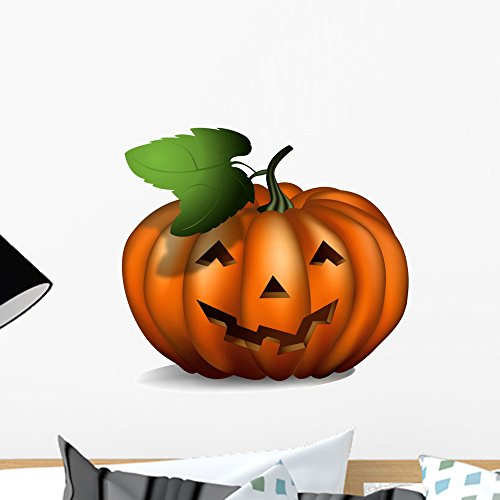 Wallmonkeys Halloween Pumpkin Peel and Stick Wall Decals WM72497 (18 in W x 13 in H) (Halloween Pumpkins Peel And Stick Wall Decals)