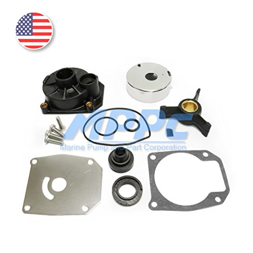 Johnson Evinrude 40HP 50HP Water Pump Repair Kit Outboard Impeller Replacement Parts With Housing Sierra 18-3454 438592 433548 433549 777805 (40 Hp Outboard Johnson Motor)