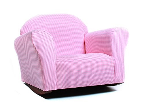 Roundy Rocking Kid's Chair Gingham, Pink