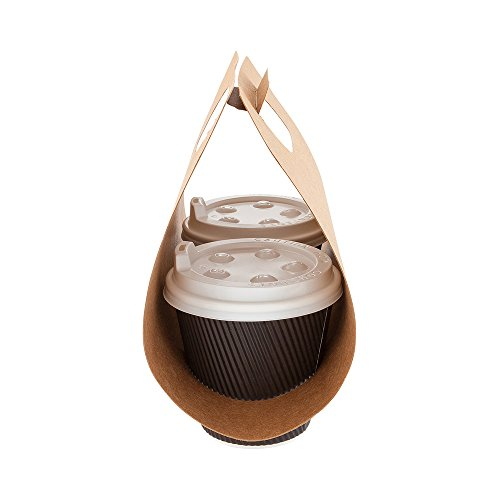 Paper Drink Carrier Coffee Cup To Go Carrier Duo Cup