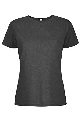 - Casual Garb Women's Crew Neck Short Sleeve Tee T-Shirts for Women Charcoal Heather X-Large