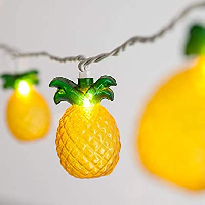 SUNSGNE Pineapple String Lights, Outdoor String Pineapple Lights, Outdoor Party Lights, Summer Patio String Lights, String Pineapple Lights, Hawaiian Themed Lights : Garden & Outdoor