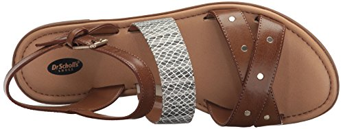 Dr. Scholls Shoes Womens Evelyn Gladiator Sandal Carmel / Snake Print