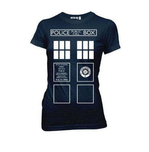 Doctor Who Costume Tardis Juniors Blue T-Shirt |