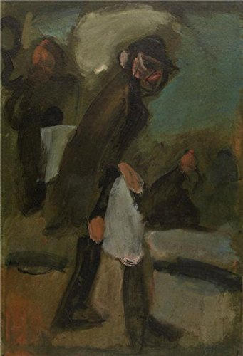 'The News Vendor By Georges Rouault' Oil Painting, 16x23 Inch / 41x60 Cm ,printed On Perfect Effect Canvas ,this Beautiful Art Decorative Prints On Canvas Is Perfectly Suitalbe For Wall Art Gallery Art And Home Artwork And Gifts