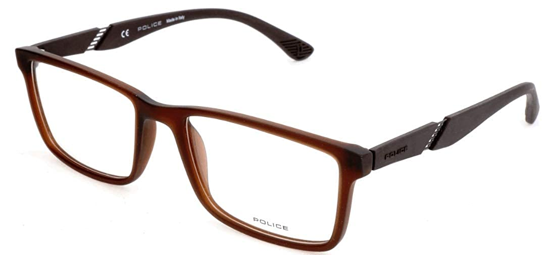 55.0 para Hombre Marr/ón Police Brillengestelle VPL389 Monturas de gafas Braun