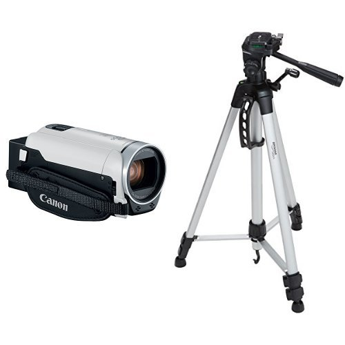 Canon VIXIA HF R800 Camcorder (White) with 60-Inch Lightweight Tripod and Bag