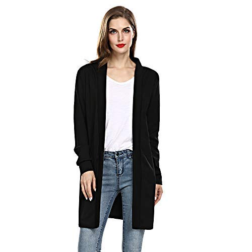 Long Cardigan Sweaters for Women Lightweight Open Front Knit Cardigans Regular Plus Size with Pocket