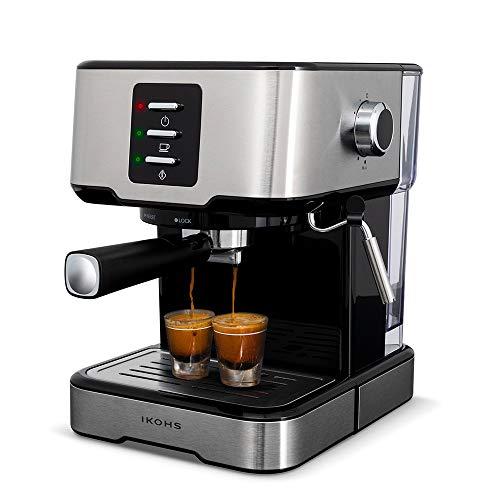 IKOHS Create Cafetera Express THERA Easy – Cafetera Automática Espress para Espresso y Cappuccino, 20 Bares, 850 W, 1,5…