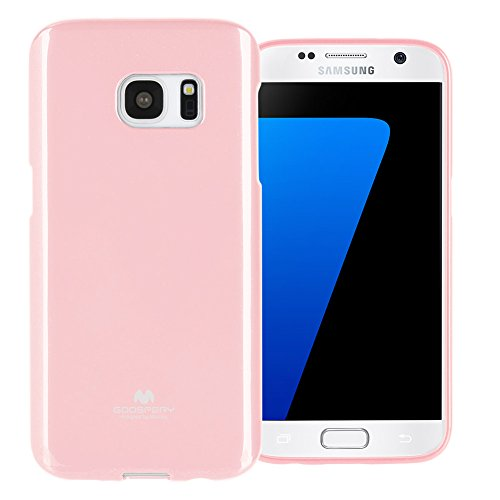 GOOSPERY Marlang Marlang Galaxy S7 Case - Baby Pink, Free Screen Protector [Slim Fit] TPU Case [Flexible] Pearl Jelly [Protection] Bumper Cover for Samsung GalaxyS7, S7-JEL/SP-PNK