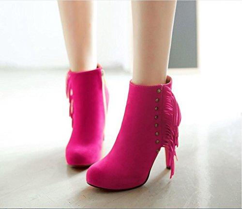 Ei&iLI Bottes femmes talons hauts cheville bottines simili cuir extérieur / bureau & carrière / occasionnel , Rose , 40