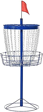 Soozier 24-Chain Portable Practice Basket for Disc Golf Target Stand Easy Assembly & Lightweight Basket w/