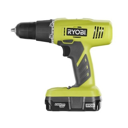 Ryobi ZRP1810 18V One Plus Cordless Lithium-Ion 3/8 in. Starter Drill Driver Kit (Certified Refurbished)