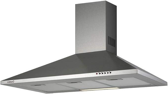 CATA V 900 420 m³/h De pared Acero inoxidable C - Campana (420 m³/h, Canalizado/Recirculación, E, E, D, 65 dB): Amazon.es: Grandes electrodomésticos