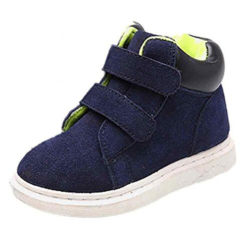 Baby Schuhe Clode® Boys Mädels Kinder Stil Hight Cut Leder Stiefel Warm Schnee Martin Stiefeletten Blau