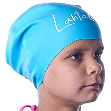 15ea4ab1588 Swim Caps Kids Long Hair - Swimming Cap for Girls Boys Kids Teens with Long  Curly
