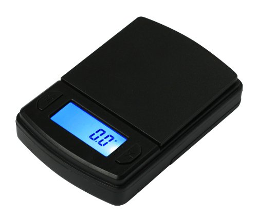 - American Weigh Scales Fast Weigh MS Series Precision Digital Pocket Weight Scale, 600G x 0.1G (MS-600-BLK)