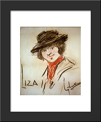 Drawing of Eliza Doolittle, a character from George Bernard Shaw's play Pygmalion 20x24 Framed Art Print by George Luks