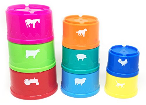 Early Learning Baby Stacking Cups from White Fox Toys