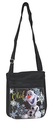 Disney Frozen Olaf Black Adjustable Strap Messenger Shoulder Cross Purse Bag