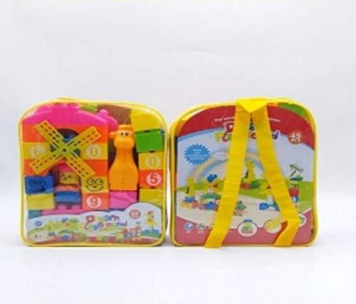 Brunte Toy Building Bricks Educational Toy Blocks Kit for 3 Years Kids Buildings