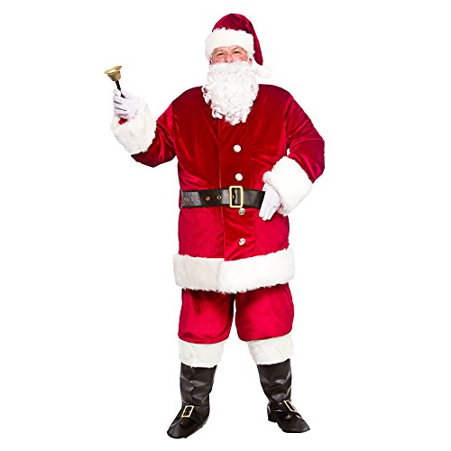 MENS ULTIMATE PROFESSIONAL SANTA SUIT FANCY DRESS COSTUME