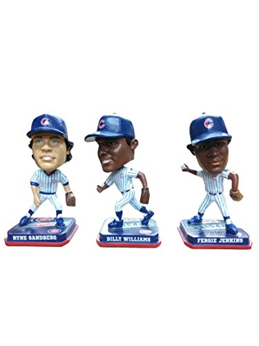 Forever Collectibles Chicago Cubs Ryne Sandberg, Billy Williams, Fergie Jenkins Mini Bobblehead Set