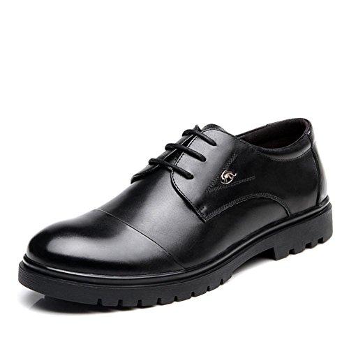 Business Leder Herrenschuhe lässige Runde Kopfband (schwarz) black