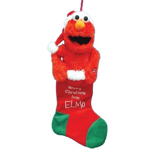 Kurt Adler Battery-Operated Animated Musical Elmo Stocking