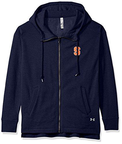 (Under Armour NCAA Syracuse Orange Womens NCAA Women's Full-Zip Fleece Hood, Small,)