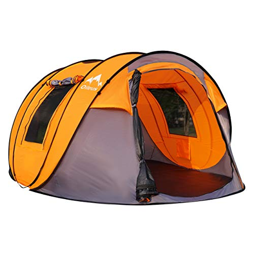 Oileus Pop up Tents Camping 4 to 6 Person Tent Sky-Window(45