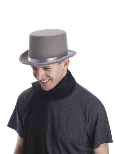 Forum Novelties Men's Super Deluxe Top Hat, Gray, ()