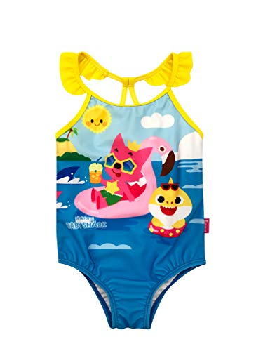 Infant Girl Baby Shark One Piece Swimsuit 18M