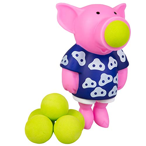 Hog Wild Pig Popper Toy - Shoot Foam Balls Up to 20 Feet - 6 Balls Included - Age 4+