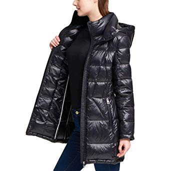 Andrew Marc Ladies' Packable Down Jacket (Small, Black)