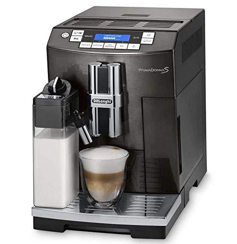 Delonghi PrimaDonna S Super-Automatic Espresso Machine, Cappuccino Maker with LatteCrema System – ECAM 28.465.B (Renewed)
