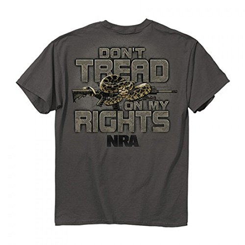 Buckwear NRA Don't Tread On Me Snake SS T-shirt - Charcoal
