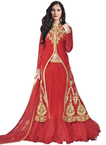 EthnicWear New Latest Pakistani Designer Bridal Reception Wear Red Lehenga Choli (Pakistani Bridal Lehenga)