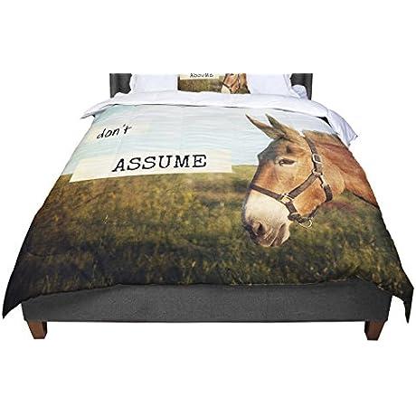 KESS InHouse Catherine McDonald Don T Assume King Cal King Comforter 104 X 88