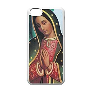 Back PC Case Virgin Mary Christian and Child Baby Jesus Protective PC Case for iphone 5C (White 020319)
