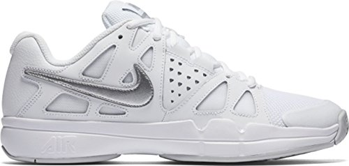 NIKE Womens Air Vapor Advantage Tennis Shoes White/Metallic Silver SXUmr